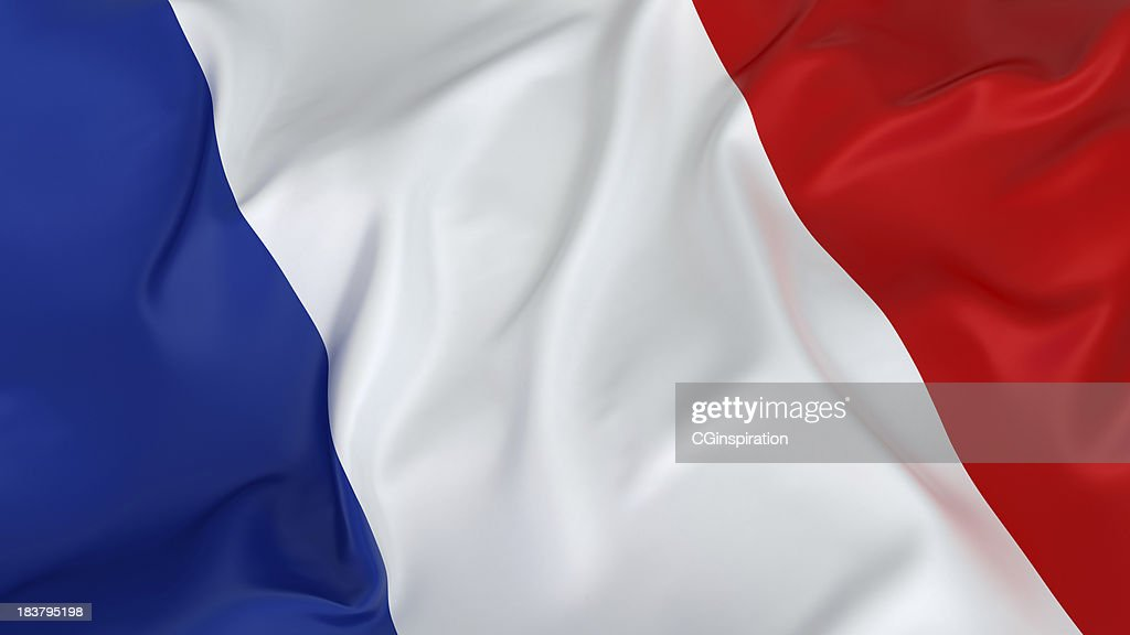 Majestic French Flag : Stock Photo