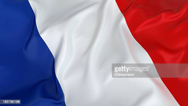 majestic french flag - flag stock pictures, royalty-free photos & images