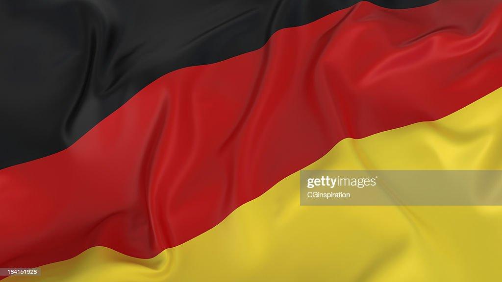 Majestic glänzenden Deutsche Flagge : Stock-Foto
