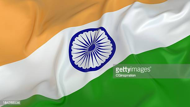 majestic glossy indian flag - indian flag stock pictures, royalty-free photos & images