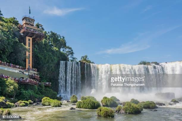 majestic iguazu falls, brazil - フォスドイグアス ストックフォトと画像