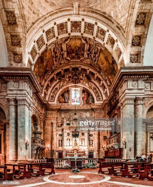 Majestic interior of Church of San Biagio, Tuscany, Italy