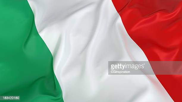 majestic italian flag - italian flag stock pictures, royalty-free photos & images