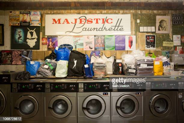 Majestic Laundrette on Argyle Street on the 2nd November 2018 in Glasgow West End in the United Kingdom