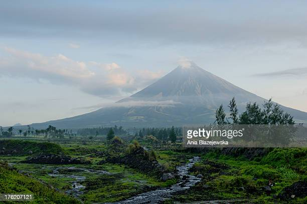 Majestic Mayon volcano, situated in the Bicol Region in the south of Luzon Island, the Philippines, is visible from almost every place in the...