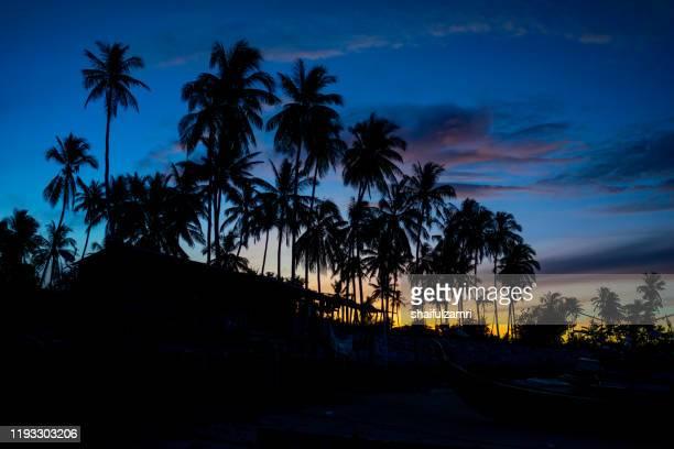 majestic morning view at langkawi island. - shaifulzamri stock pictures, royalty-free photos & images