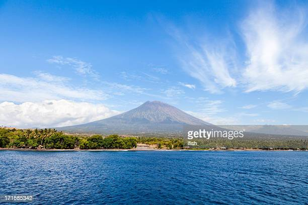 Majestic Mount Agung, seen from Tulamben, North Bali, Indonesia