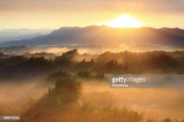 Majestic mountains landscape in the morning