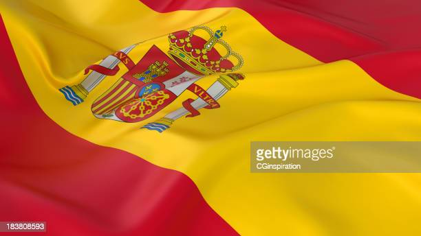 A majestic red and yellow Spanish flag