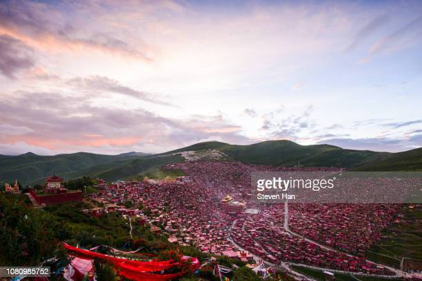 majestic scenery of buddhist school in west Sichuan province