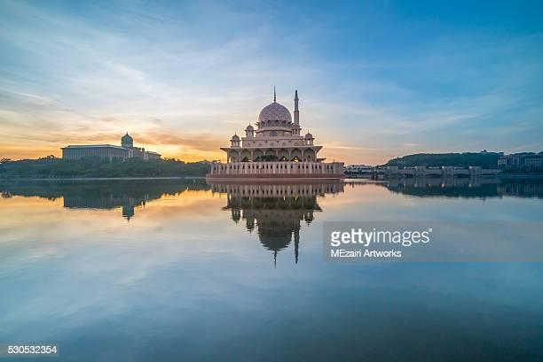 Majestic Sunrise at Putra Mosque, Putrajaya Malaysia