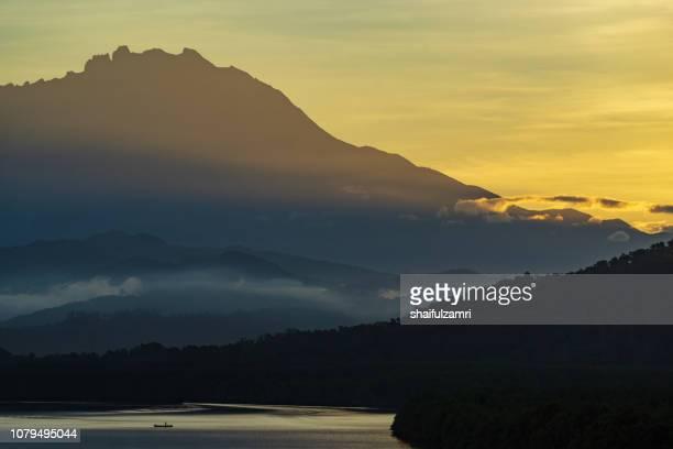 Majestic sunrise of Mount Kinabalu
