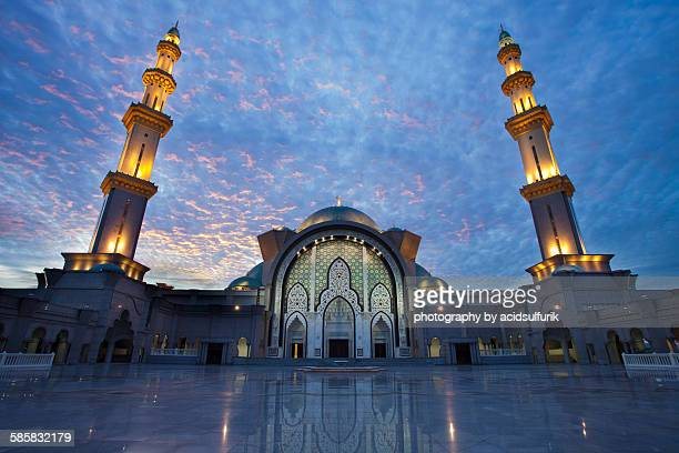 A majestic sunset at Masjid Wilayah, KL.