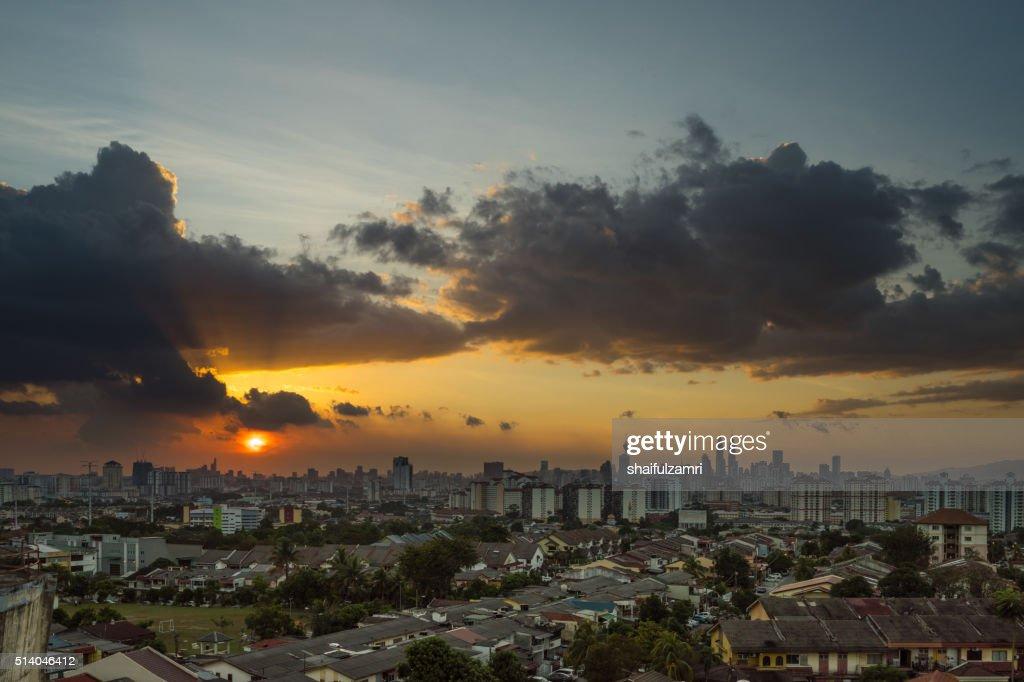 Majestic sunset in Kuala Lumpur : Stock Photo