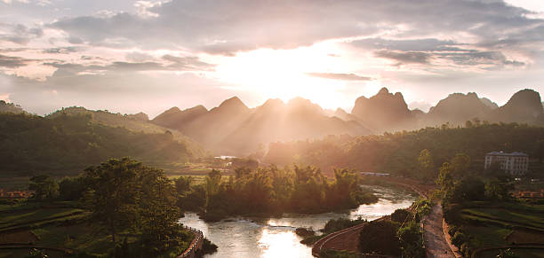Majestic Sunset Over The Mountains Wall Art