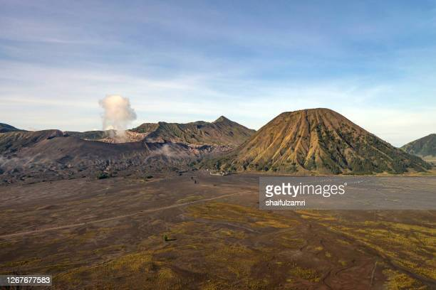 majestic view of mount bromo volcano during sunrise - shaifulzamri stock pictures, royalty-free photos & images