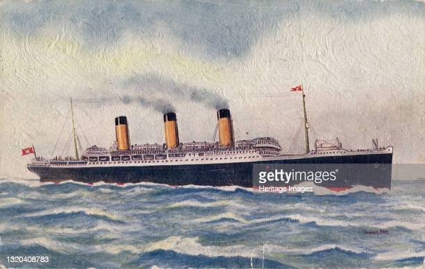 Majestic, White Star Line, 1935. Ocean liner working on the North Atlantic run. Artist Unknown.