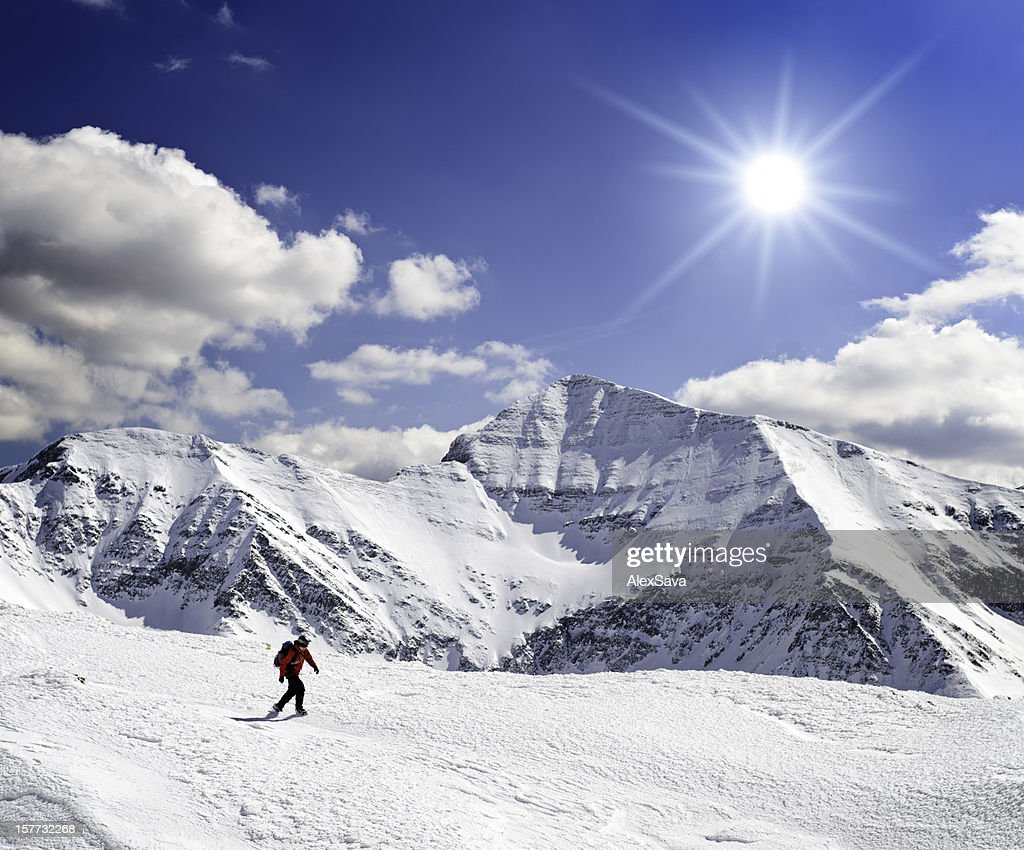 majestic winter landscape  in mountains : Stock Photo