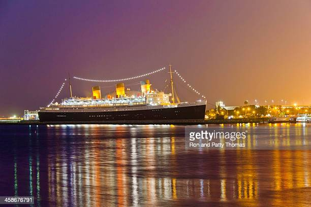 majesty of the queen mary (p) - long beach california stock photos and pictures