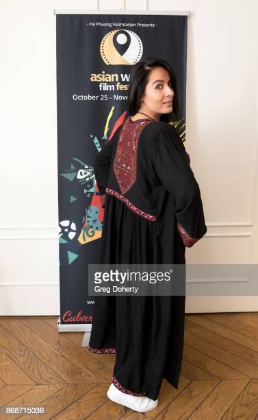 Majia Khaan attends a reception as Angelina Jolie Accepts the Rising Star Award on behalf of 'First They Killed My Father' actress Sreymoch Sareum...