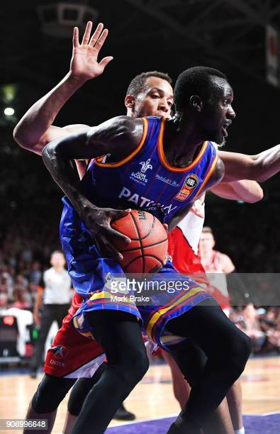 Majok Deng of the Adelaide 36ers during the round 15 NBL match between the Adelaide 36ers and the Illawarra Hawks at Titanium Security Arena on...