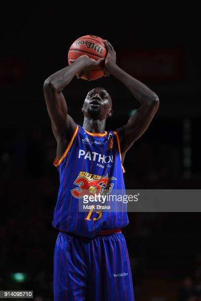 Majok Deng of the Adelaide 36ers during the round 17 NBL match between the Adelaide 36ers and the Perth Wildcats at Titanium Security Arena on...