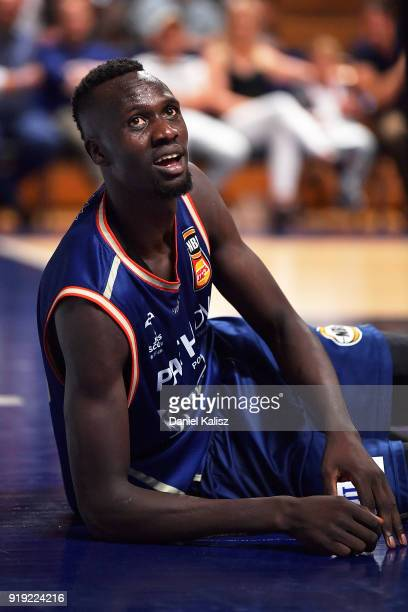 Majok Deng of the Adelaide 36ers looks on during the round 19 NBL match between the Adelaide 36ers and the Brisbane Bullets at Titanium Security...
