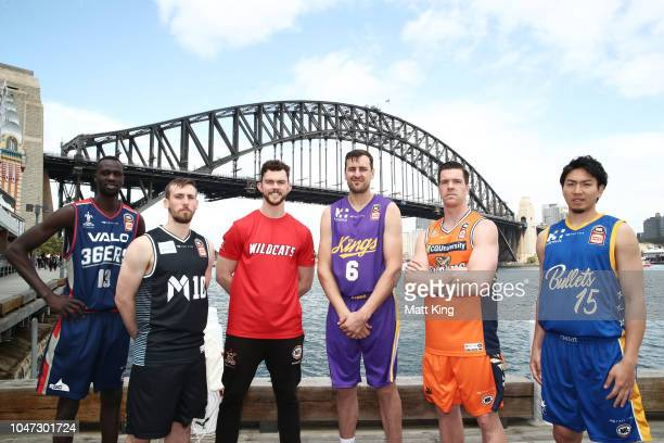 Majok Deng of the Adelaide 36ers Mitch McCarron of Melbourne United Angus Brandt of the Perth Wildcats Andrew Bogut of the Sydney Kings Lucas Walker...