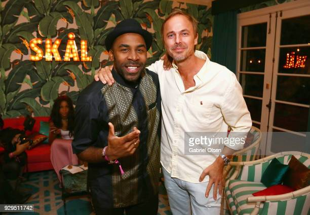 Major and Jonas Tåhlin attend The African Getdown Hosted by Common at the Private Residence of Jonas Tahlin CEO Absolut Elyx on March 8 2018 in Los...