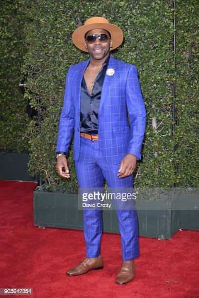 Major attends the 49th NAACP Image Awards Arrivals at Pasadena Civic Auditorium on January 15 2018 in Pasadena California