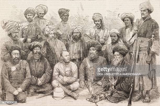 Major Cavagnari and chief Sardars and their followers Jalalabad Second AngloAfghan War illustration from the magazine The Graphic volume XX no 511...