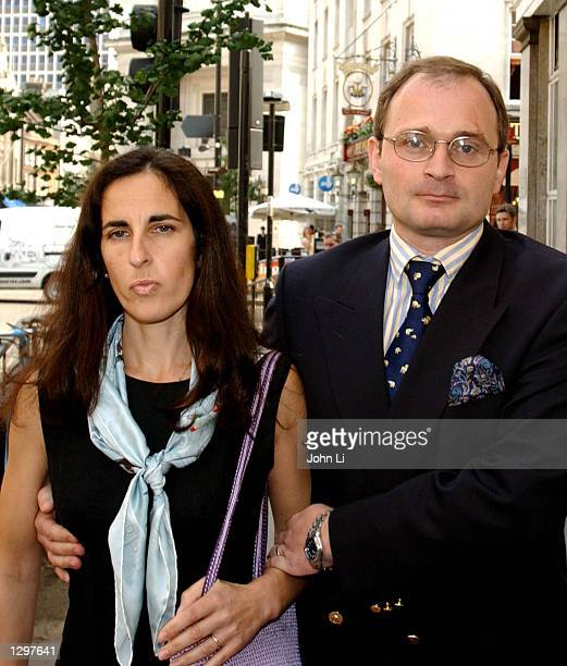 Major Charles Ingram and his wife Diana accused of defrauding the ITV game show Who Wants to be a Millionaire leave Bow Street magistrates court...