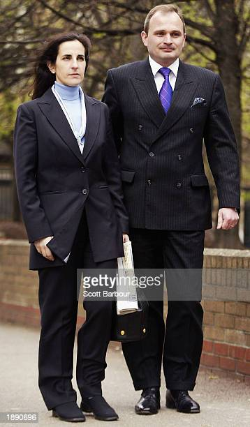 Major Charles Ingram and his wife Diana arrive at Southwark Crown Court April 2 2003 in London Ingram has been charged with deception and conspiracy...