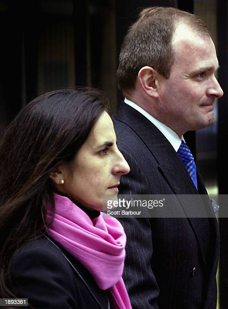 Major Charles Ingram and his wife Diana arrive at Southwark Crown Court April 3 2003 in London England Ingram has been charged with deception and...