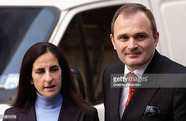 Major Charles Ingram and his wife Diana arrive at Southwark Crown Court April 7 2003 in London England Ingram has been charged with deception and...