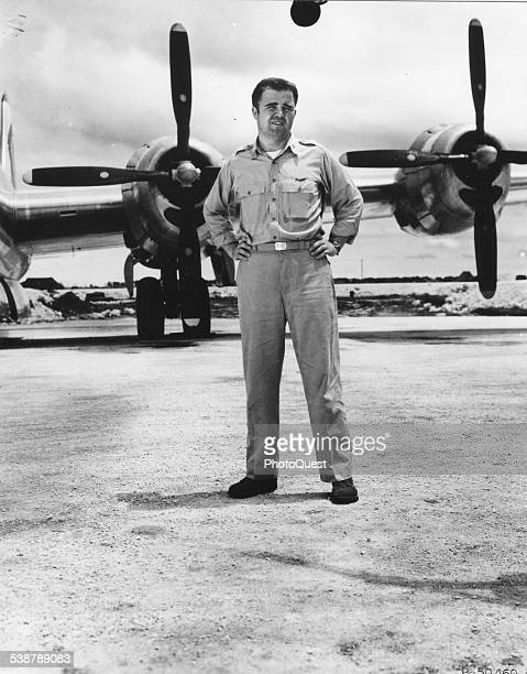 Major Charles W Sweeney pilot of the B29 'Bock's Car' which atombombed Nagasaki Japan Northern Mariana Islands August 9 1945
