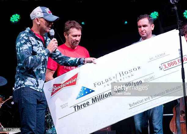 Major Dan Rooney Folds of Honor Foundation country music star Craig Morgan and Mayor of Jersey City Steven Fulop announce Budweiser's $3 Million...
