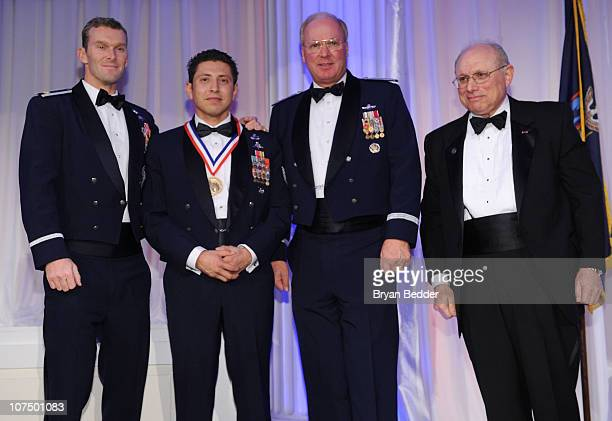 Major Gary Alexander Van Cleave Award Recipient Technical Sgt Ismael Villegas Chief of the National Guard Bureau General Craig R McKinley and Myron...