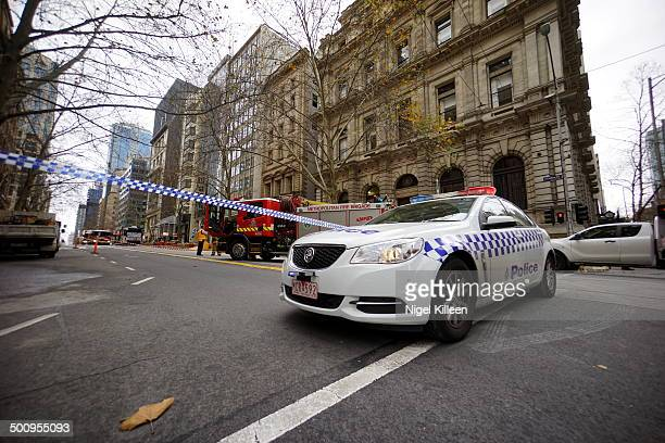Major Gas Leak prompts road closures in Melbourne CBD Collins Street Melbourne Australia 5July2014