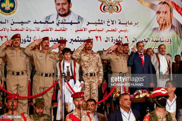 Major General Abdullah Yahya alHakim chief of intelligence of the administration of Yemen's Huthi rebels in control of the capital Sanaa and other...