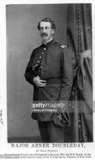 Major General Abner Doubleday poses for a portrait 1861