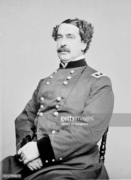 Major General Abner Doubleday poses for a portrait in circa 1855
