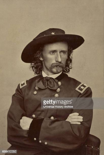 Major General George Armstrong Custer Portrait in Uniform Union Army USA 1865