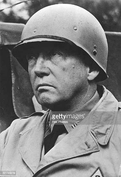 Major General George Smith Patton an American soldier known as 'Old Blood And Guts' at age 57 when commanding US landings in North Africa