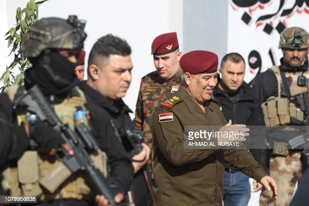 Major General Jalil alRubaie commander of Baghdad operations in the Iraqi army attends a ceremony in Baghdad marking Police Day on January 10 2019