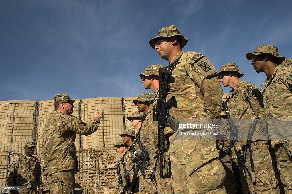 KHOST PROVINCE, AFGHANISTAN  DECEMBER 14: Major General James C : News Photo