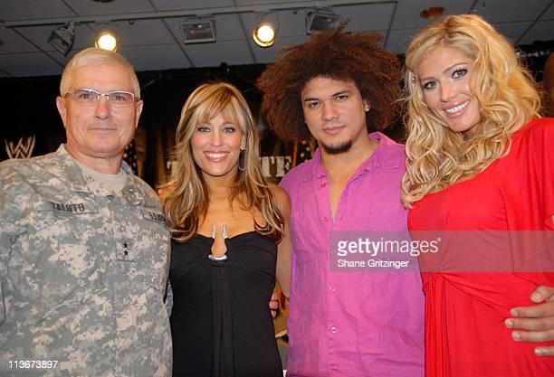 Major General Joseph J Taluto Lilian Garcia Carlito and Torrie Wilson