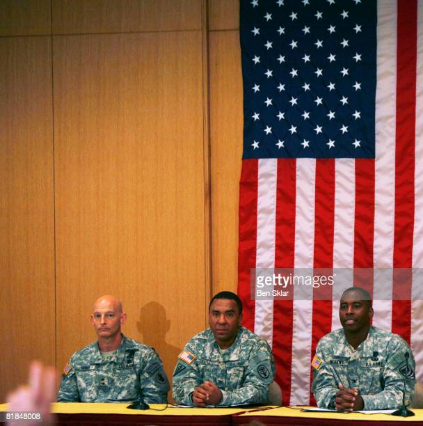 Major General Keith Huber Colonel Jackie Hayes and Colonel Carl Dickens speak about the present state of three former US hostages held captive in...