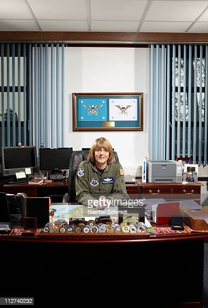 Major General Maggie Woodward photographed on April 5 2011 for Time Magazine NY in her office on the United States Air Force base in Ramstein Germany