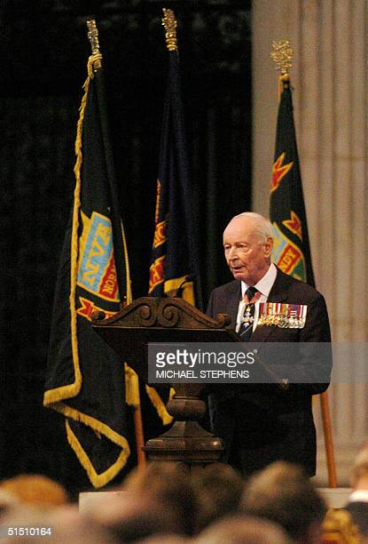 Major General Peter Martin Commander of the British empire reads the Second Lesson at St Paul's Cathedral for The Normandy Veterans Association...